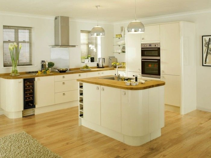 wohnideen küche creme farbgestaltung freistehende kücheninsel - küchen farben trend
