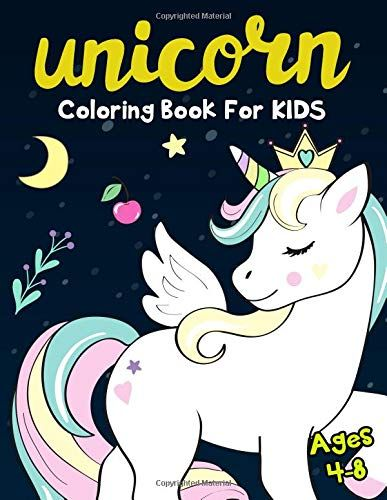Unicorn Coloring Book for Kids Ages 4-8: 50 Cute Unicorn ...