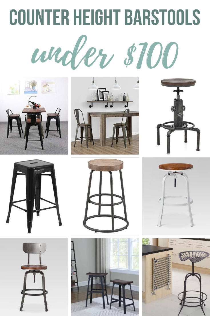 Industrial Bar Stools 9 Counter Height Stools Under 100