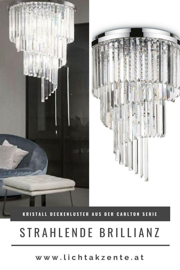 Ideal Lux Kristall Luster Carlton Ø:8cm  Lampen wohnzimmer