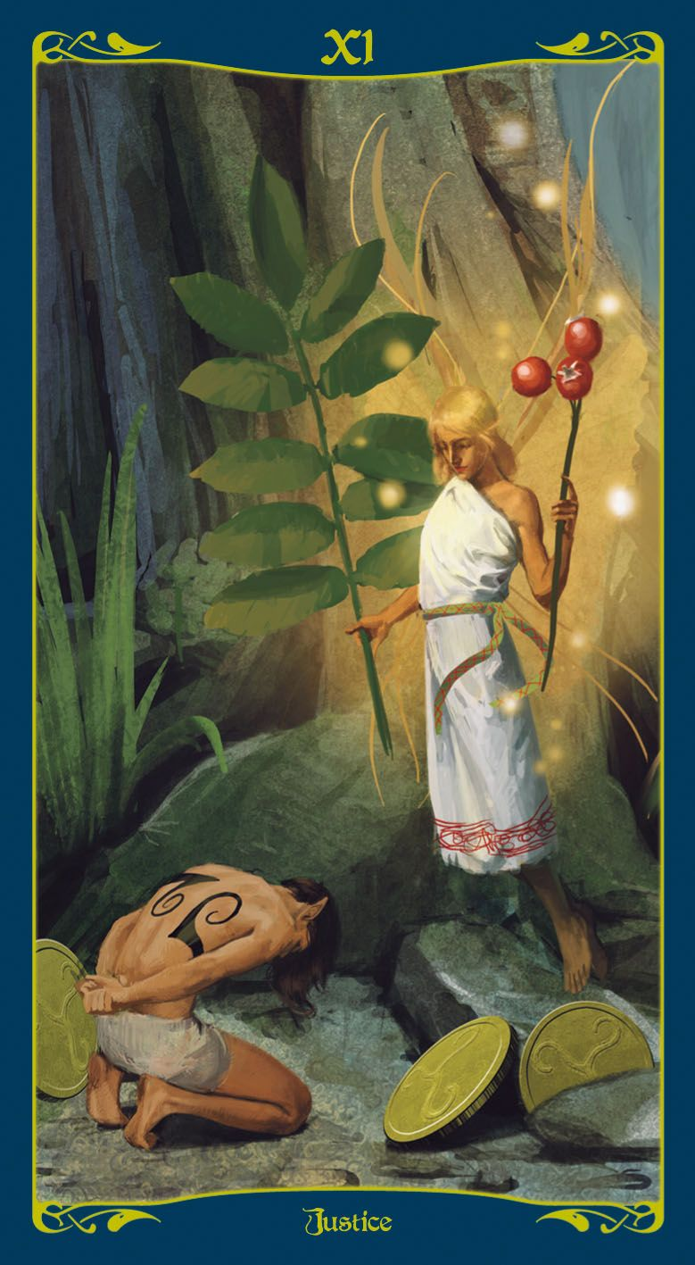 Justice tarot of the celtic fairies justice tarot