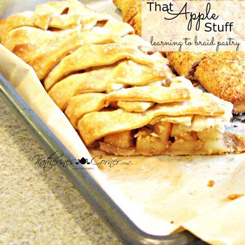 Katherines Corner That-Apple Stuff-Learning To-Braid-Pastry Made with a refridgerated pre made pie crust and using pink lady, gala or honey crisp apples...Yummy