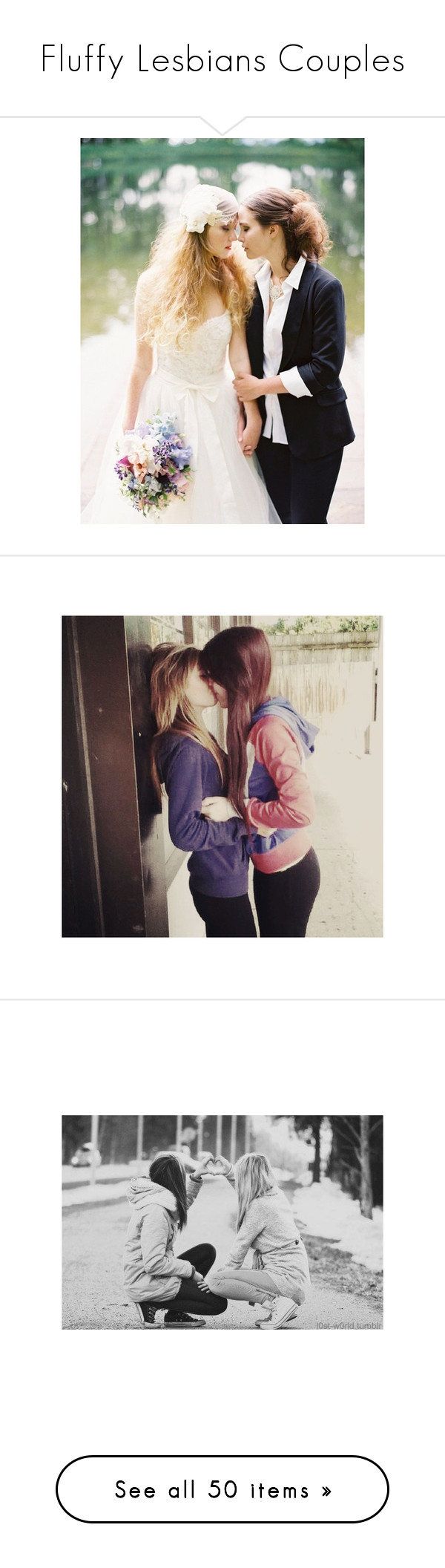 """""""Fluffy Lesbians Couples"""" by samara-missschmidt ❤ liked on Polyvore featuring couples, lesbian, pictures, couple, love, black and white, people, photos, backgrounds and photo"""