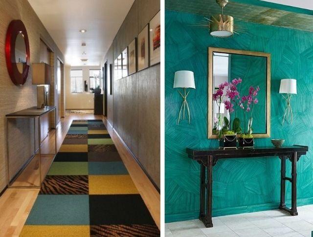 Im Flur ideen für farbgestaltung im flur und eingangszone aquamarin blau in