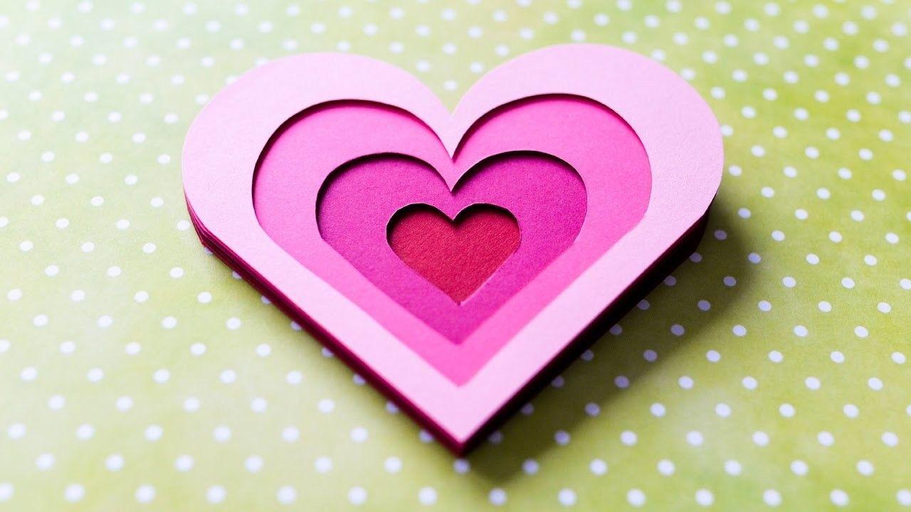 How To Make 3d Greeting Card Valentine S Day Heart Step By Step Diy Kartka Walentynkowa Valentines Cards Valentine Greeting Cards Greeting Cards Handmade