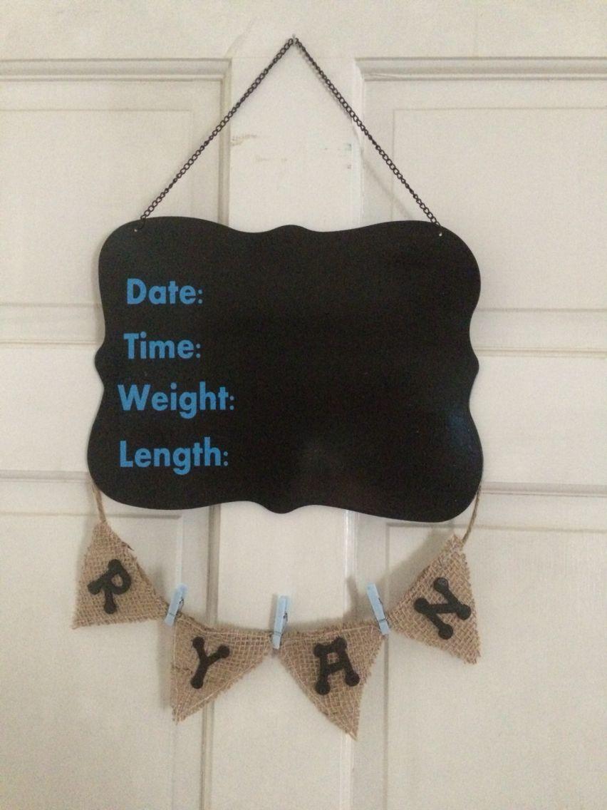 Baby boy wreath for hospital door diy baby shower gifts