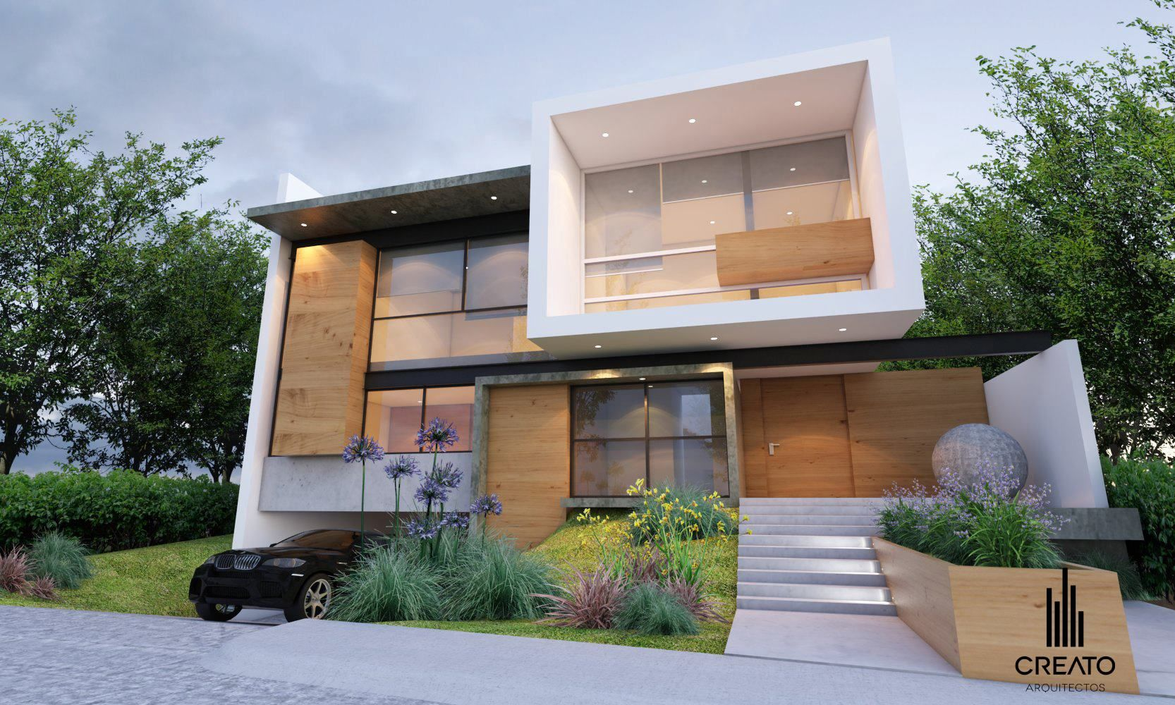 Fachadas creato arquitectos bosque pinterest - Arquitectos casas modernas ...