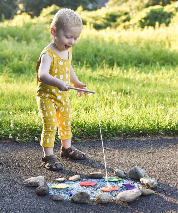 Toddler Educational Toys Magnet Felt Fishing Game Fishing