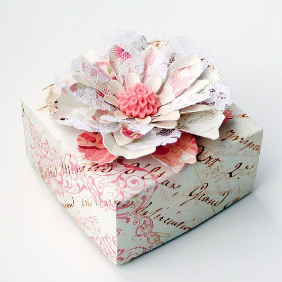 Decorated Gift Box Awesome Elegant Handmade Paper Flower Decorated Origami Gift Box  Paper Review