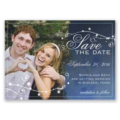 Stargazing - Save the Date Magnet at Invitations By Dawn