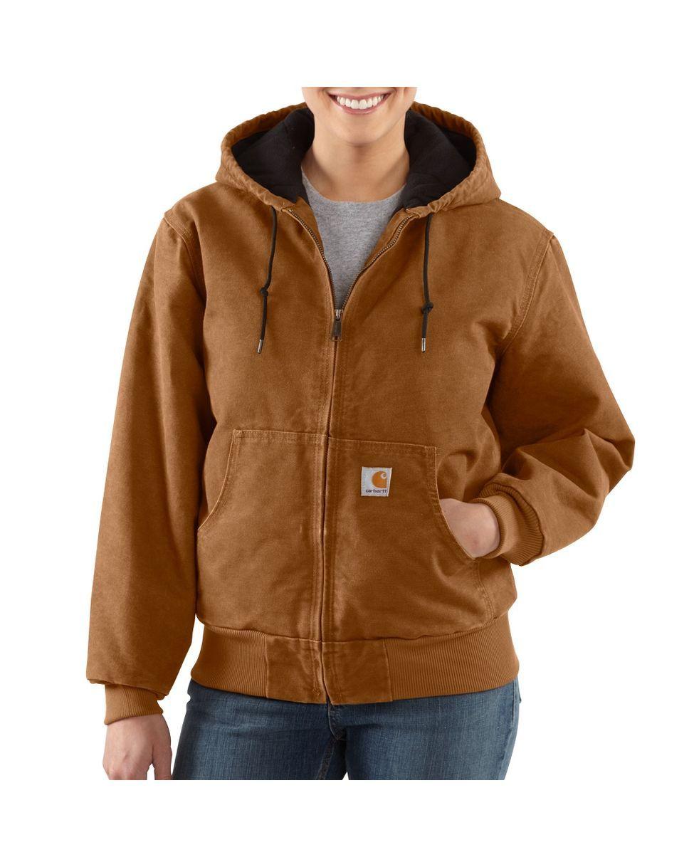 Carhartt Women 39 S Sandstone Detroit Jacket Sherpa Lined