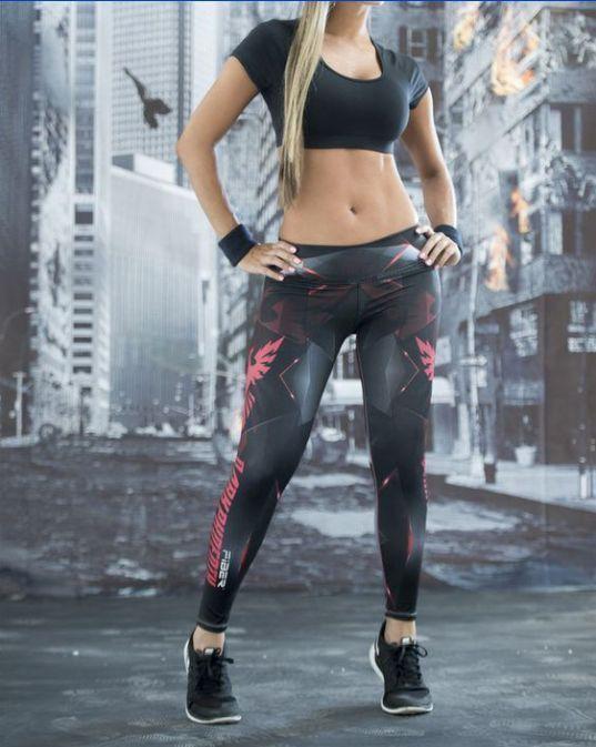 a371dced40e Dark Phoenix Anime Movie Women Yoga Gym Traning Cosplay Skinny Fitness  Leggings