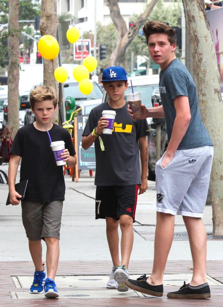 Brooklyn, Romeo, Cruz And David Beckham Go On Family Soul Cycle Outing In Brentwood - http://oceanup.com/2014/07/15/brooklyn-romeo-cruz-and-david-beckham-go-on-family-soul-cycle-outing-in-brentwood/