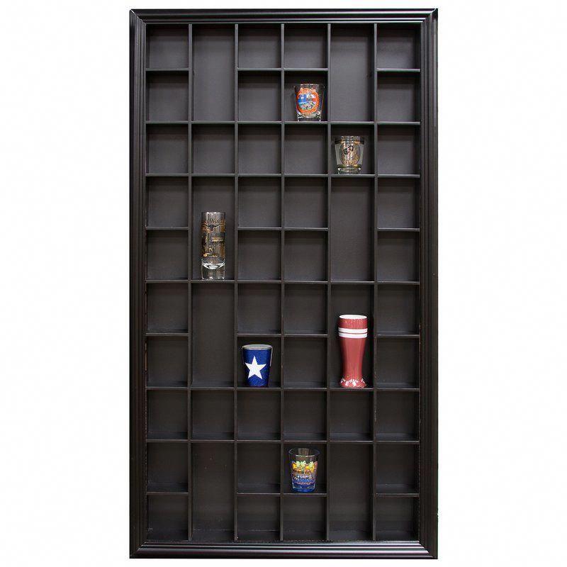 Gerry shot case wall shelf glass display case glass