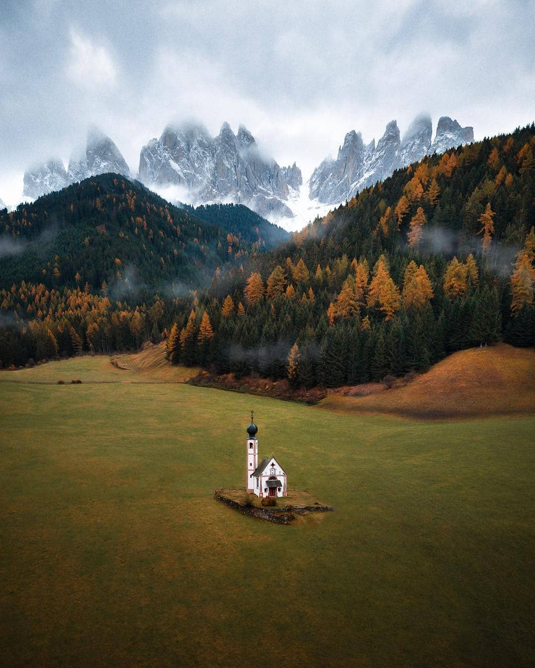 """Planet Earth 🌎 on Instagram: """"Photo by @conormccann Val di Funes 🇮🇹 . #Italy #Nature #Place #Planet #Travel #TLpicks #Church #Worldshotz #Superhubs #Landscapes…"""""""