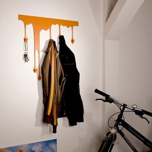 Hanging By A Thread 10 Creative Coat Hooks Rack Design Drip Painting Wall Mounted Coat Rack