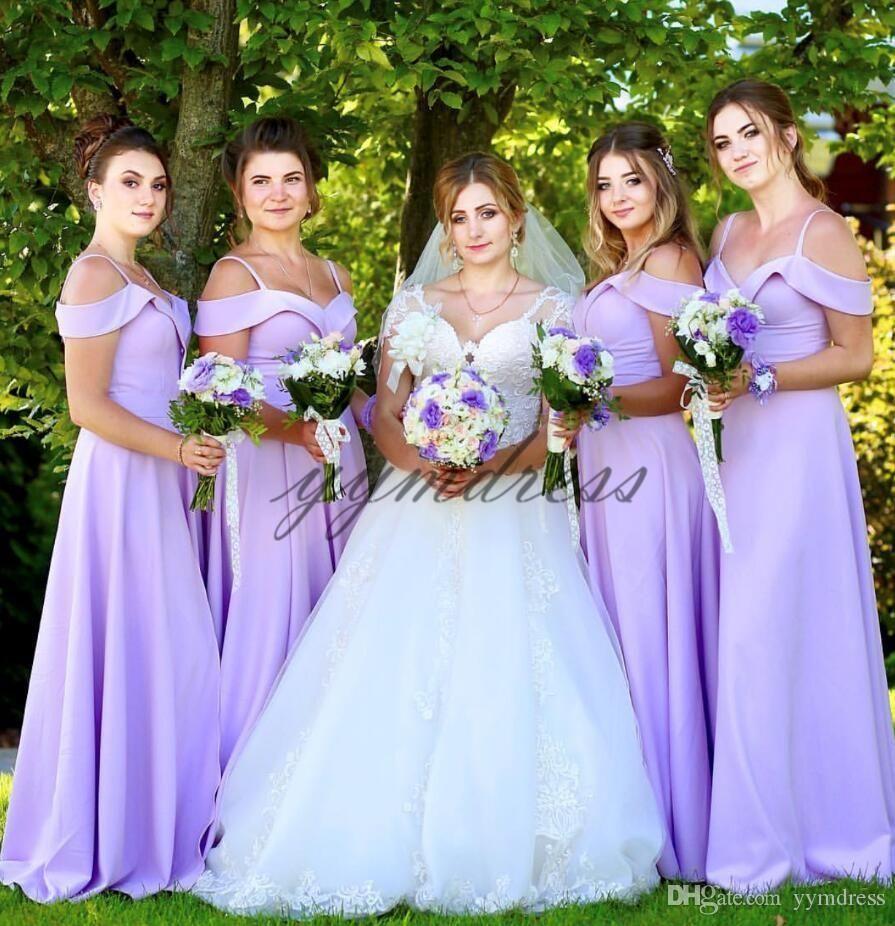 c0157ce201 light Purple Bridesmaid Dresses 2019 Spaghetti neck Backless Floor ...