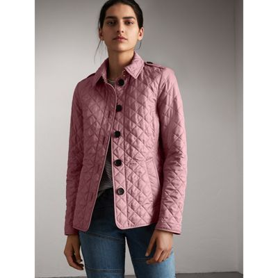 Diamond Quilted Jacket In Vintage Rose Women Diamond Quilt