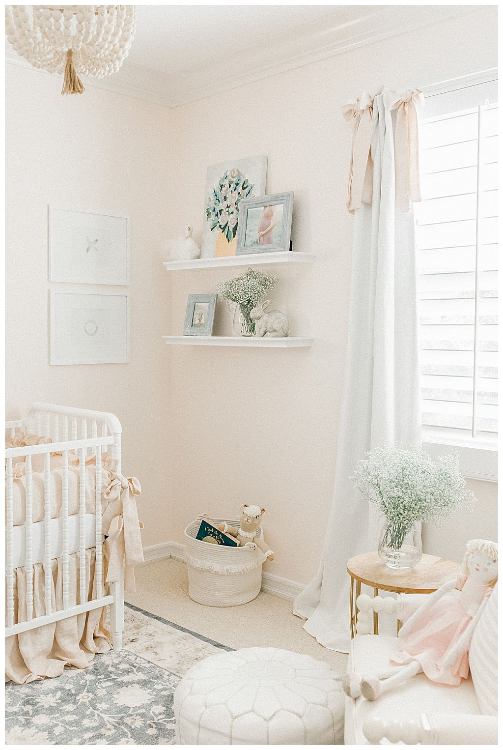 Pretty Smitten Nursery  Baby Girl Nursery Inspiration  Pretty Smitten Blog  Elizabeth Johnson Photography is part of Nursery inspiration girl -