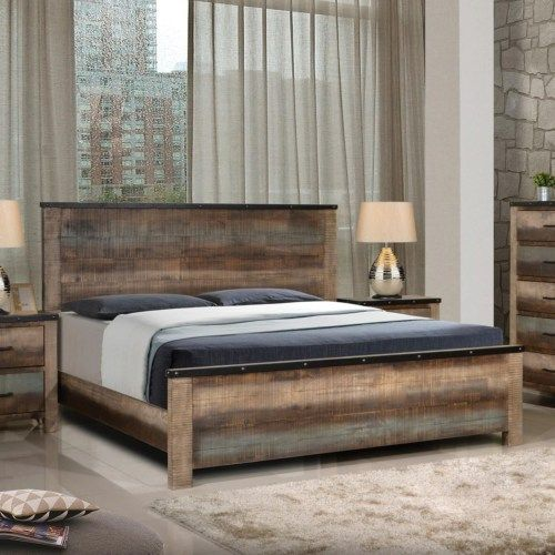 Coaster Sembene Rustic King Bed With Nailhead Accents Coaster