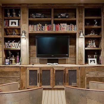Built In Entertainment Center His Rustic Taste Can Work Well With My Dystopian Dark Side Built In Entertainment Center Best Man Caves Built Ins