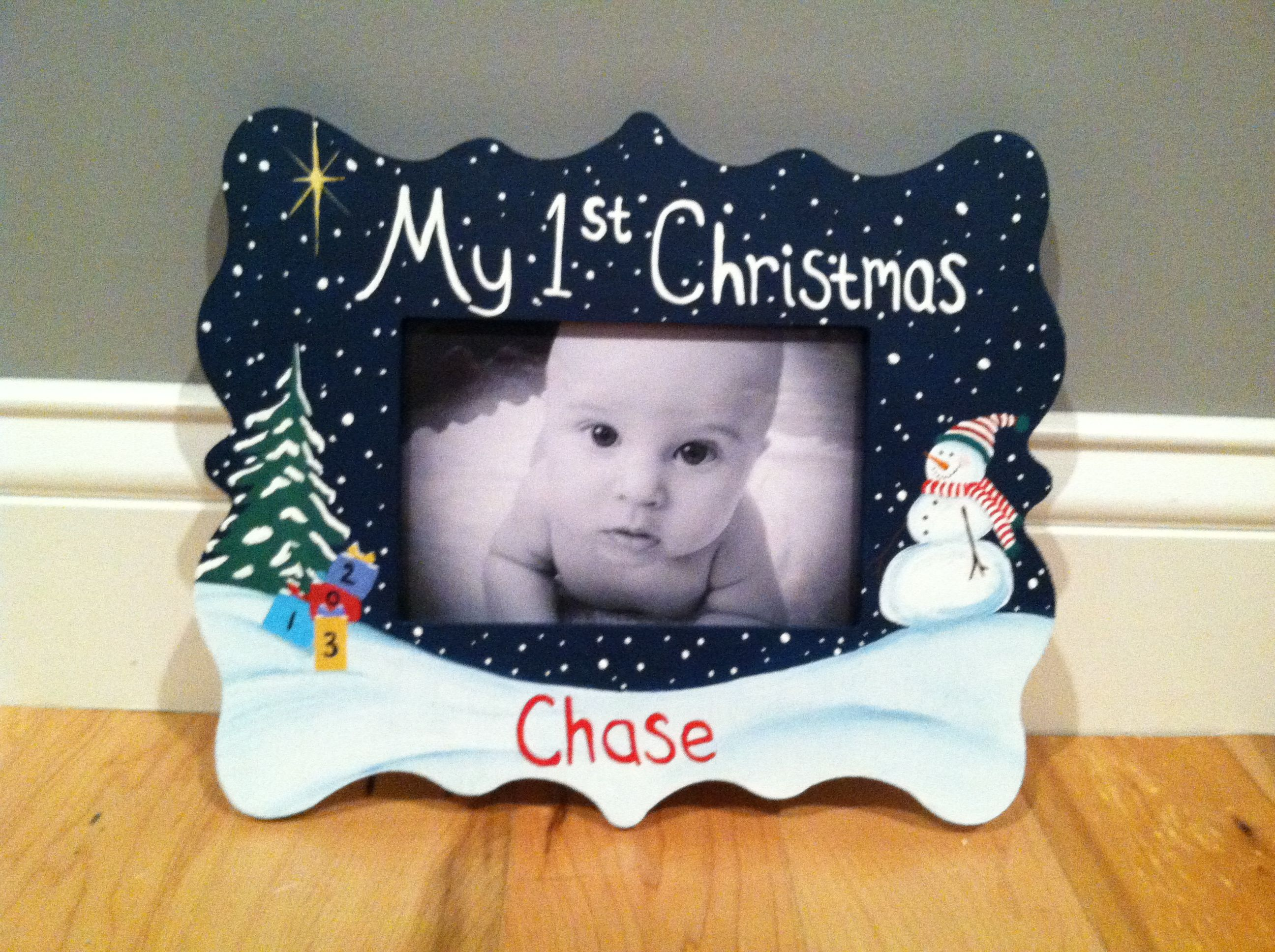 diy babys first christmas frame