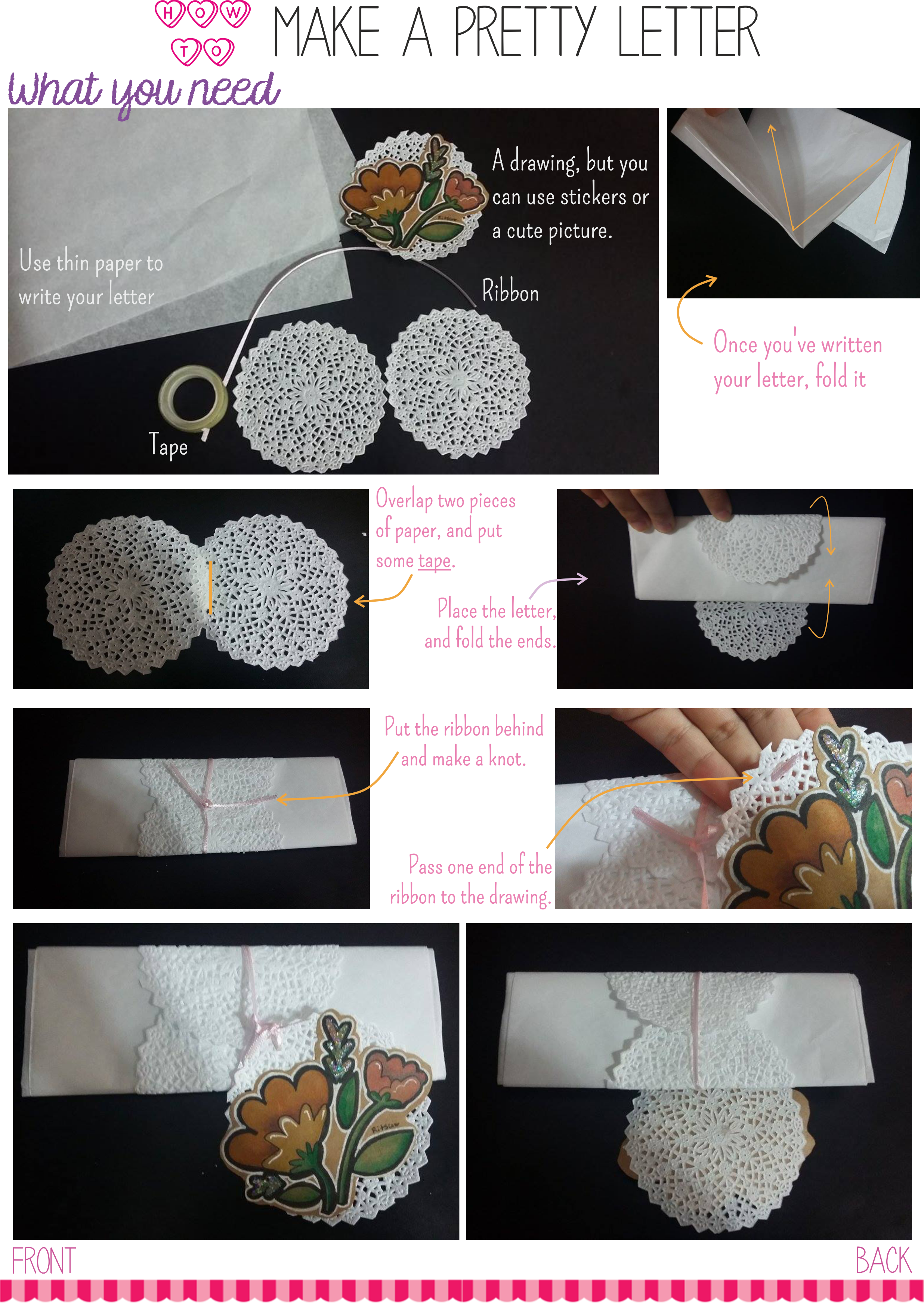 A little tutorial. To make creative and simple personal letters <3 . Made by me.