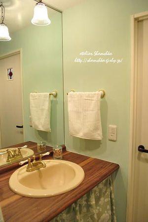 洗面所 ミントグリーン色のお部屋 画像集 素敵なインテリア