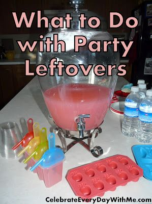 what to do with party leftovers - don't let your hard work end up in the trash