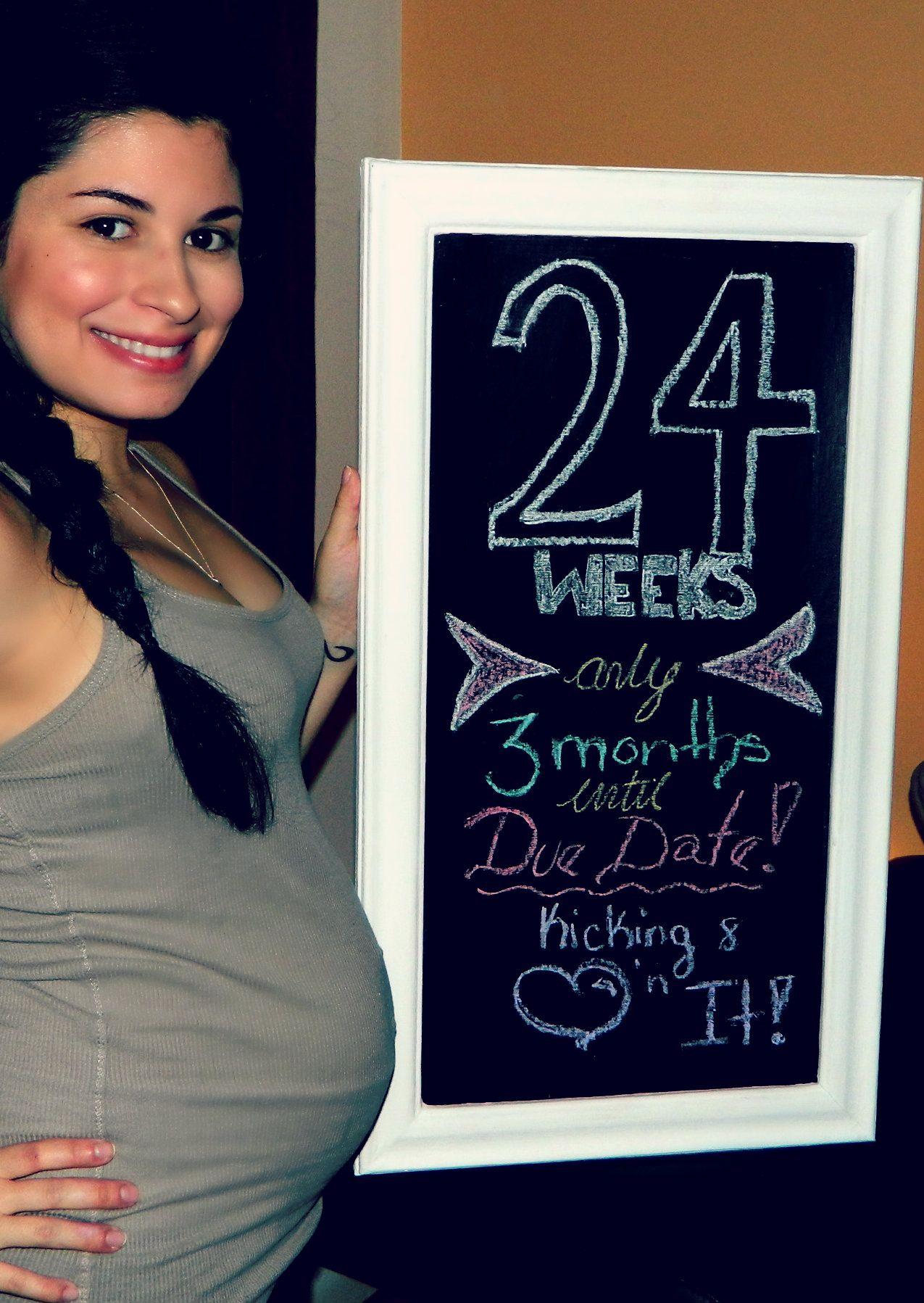 Weekly Baby Bump Chalk Board