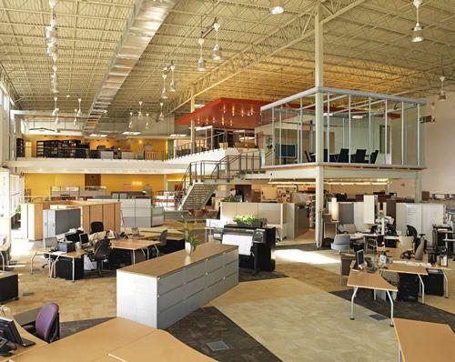 Marvelous Office : Creative Minimalist Office Design In Big Space ~ HeimDecor