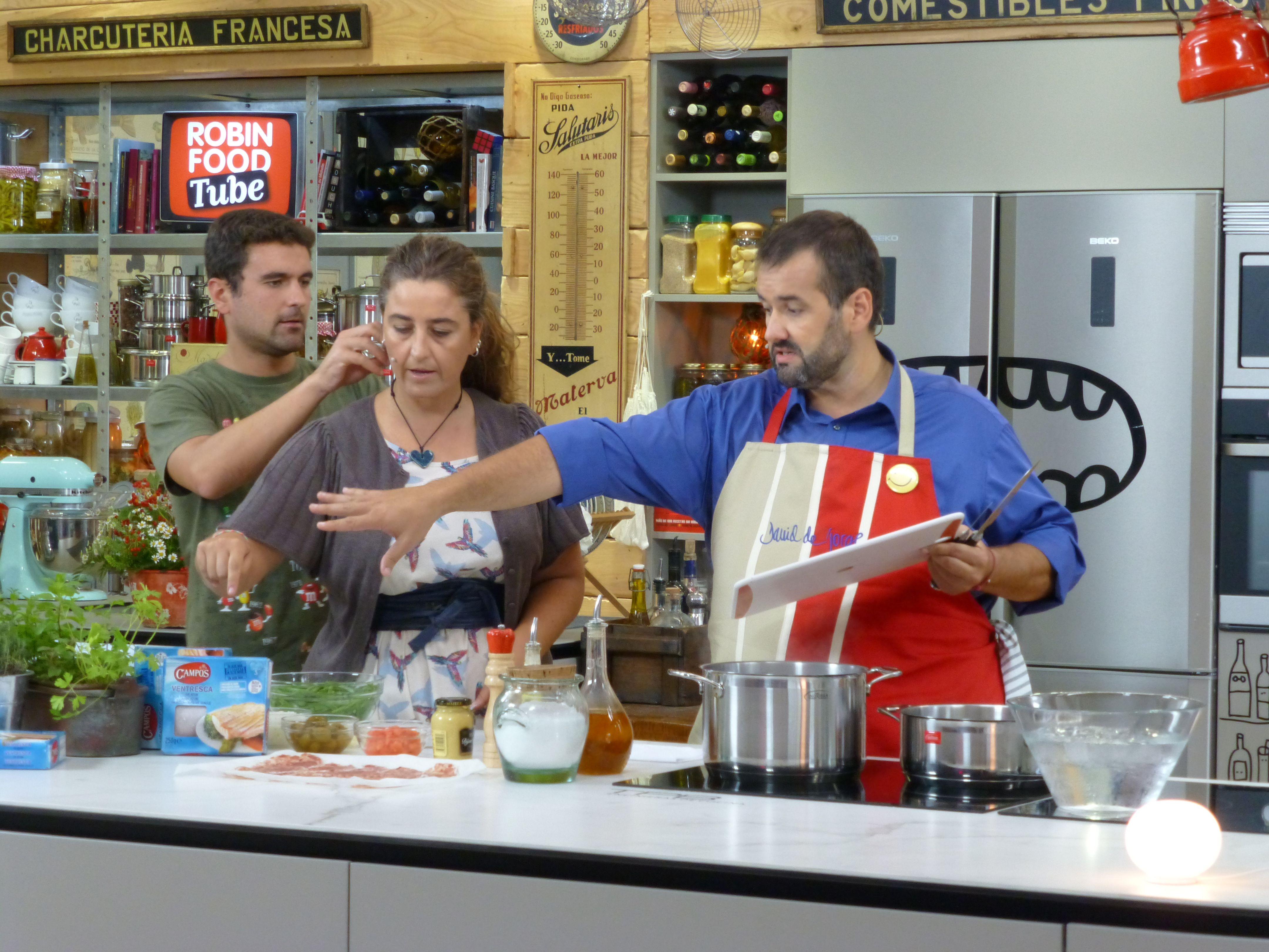 Making Off Del Programa De Robin Food Donde David De Jorge Cocina Con  Campos. (15 10 2013)