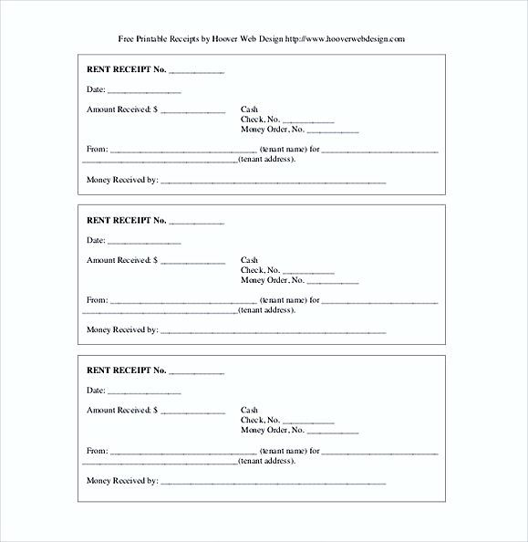 Printable Rent Receipts  Rent Invoice Template  Knowing Some