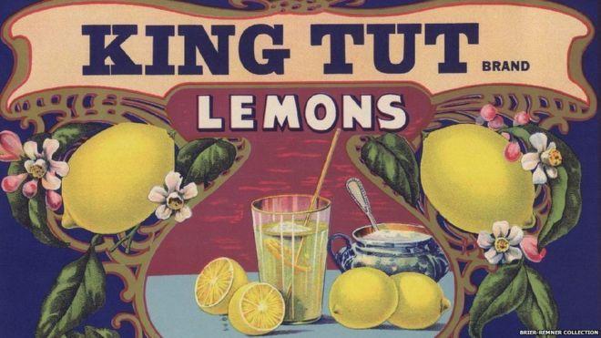 King Tut Lemons Citrus Crate Label Art print Johnston Fruit Santa Barbara CA