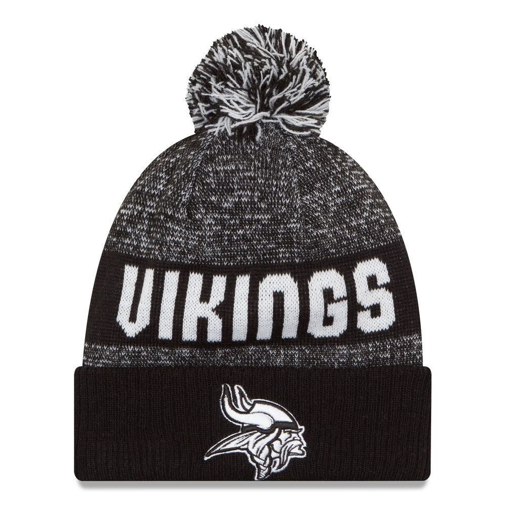 345cee16 Minnesota Vikings New Era Sport Knit Hat - Black/White | Minnesota ...
