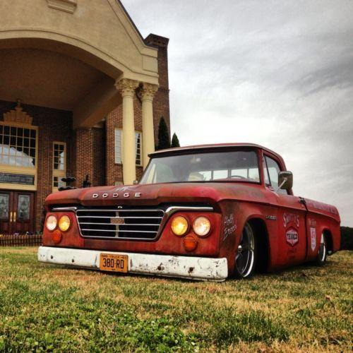 1965 Dodge D100 Sweptline Shortbed Custom Cab Sweptie: 1964 Dodge D100 Ratrod,hotrod,patina,slammed,texaco