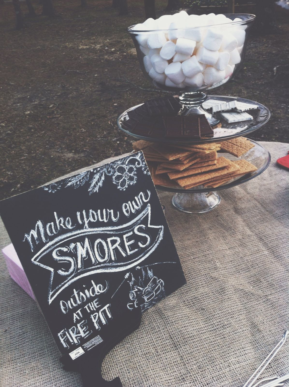 S'mores bar for a wedding!