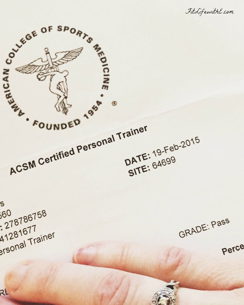 How To Pass The Acsm Cpt Exam Work Bch Fitness Certified