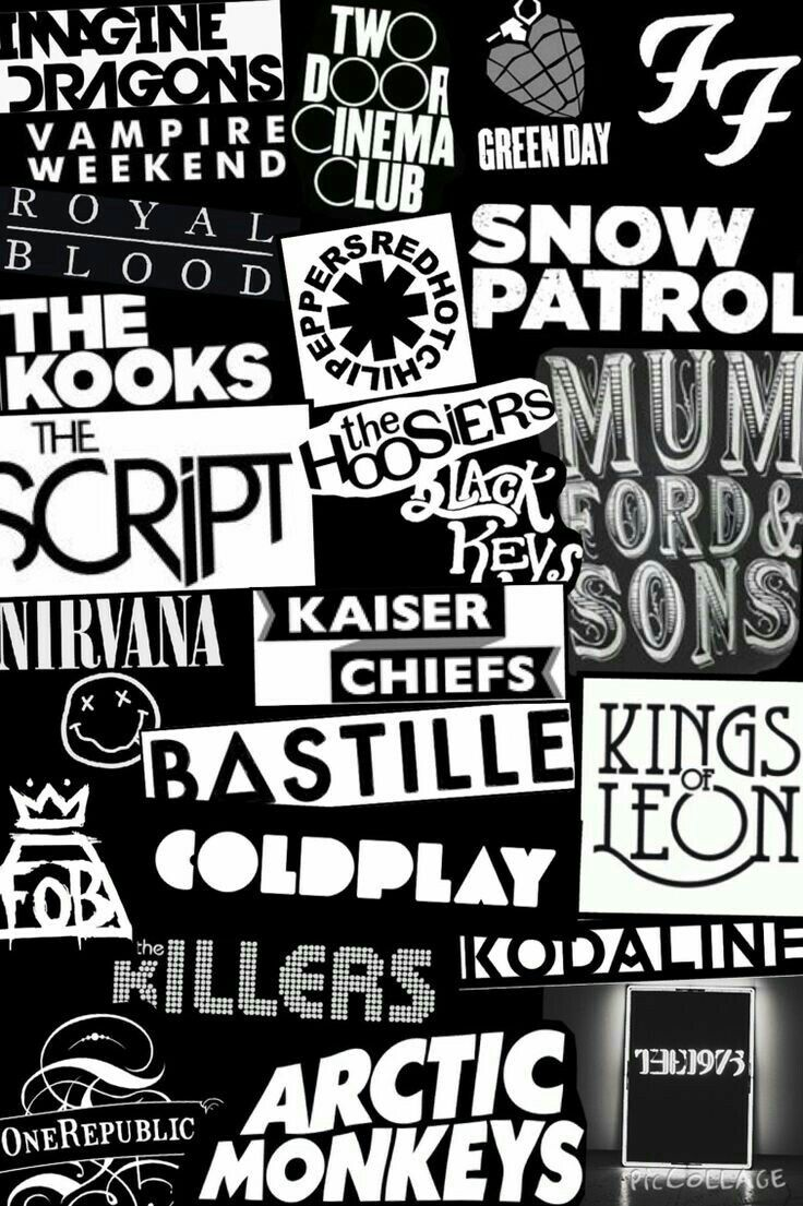 Pin by Giovanna Salinas on Bands | Music collage, Band wallpapers, Vintage  music art