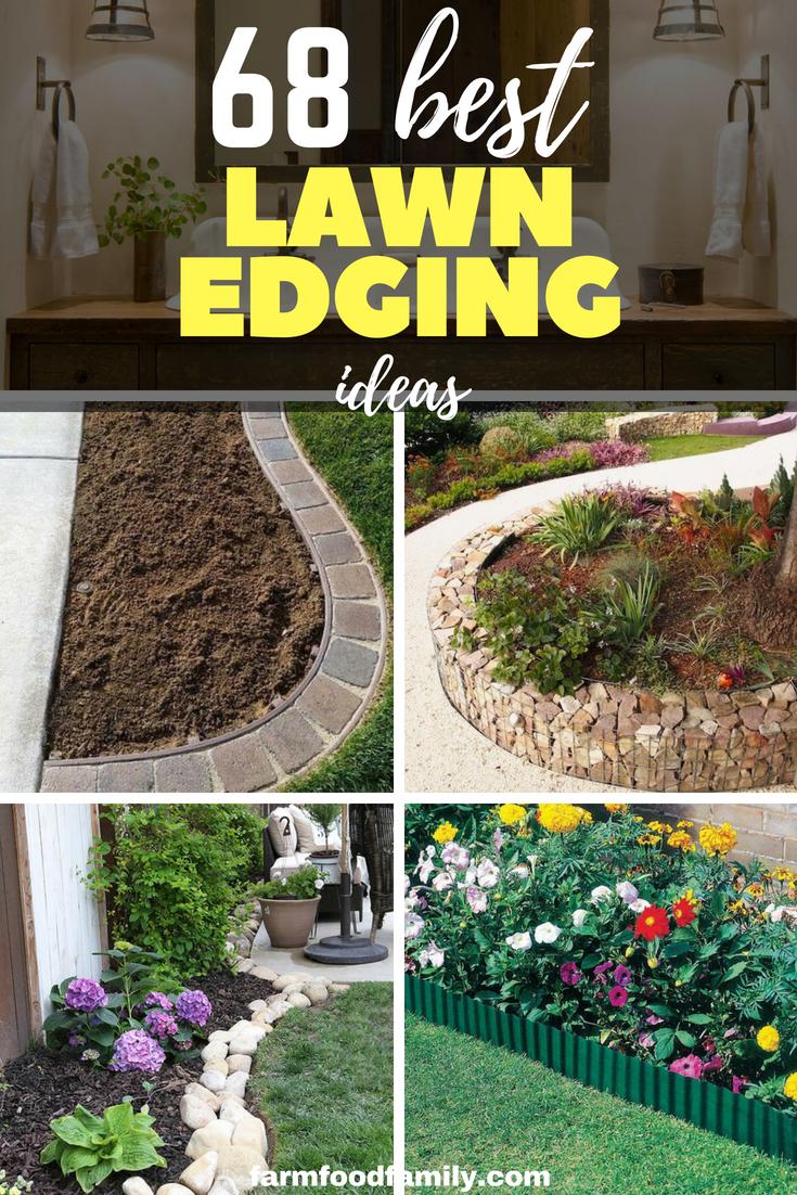 68 Creative Cheap Garden Edging Ideas That Will Transform Your Yard Diy Landscaping Garden Landscaping Diy Garden Edging