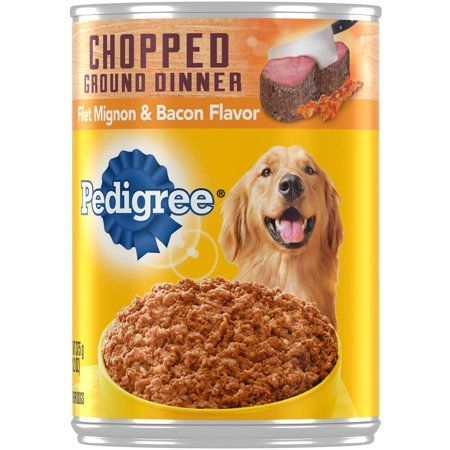 12 Pack Pedigree Chopped Ground Dinner Canned Wet Dog Food Filet