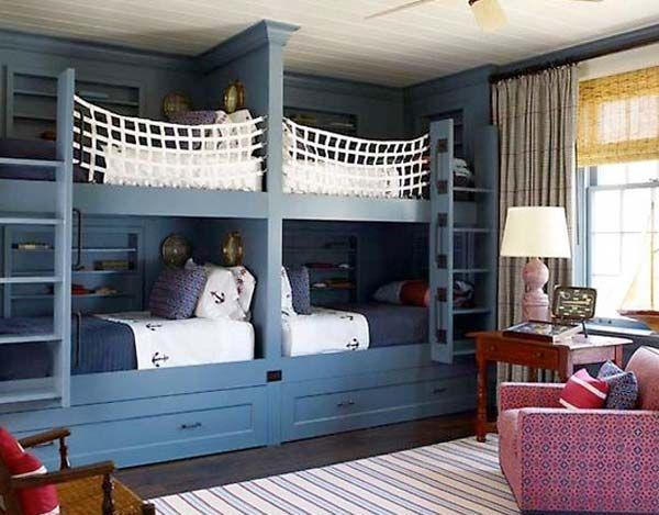 21 Most Amazing Design Ideas For Four Kids Room Kid S Decor Bunk