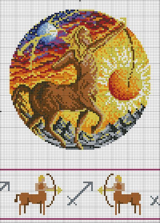 Gallery.ru / Фото #4 - зодиак в круге (добавлены схемы с ...