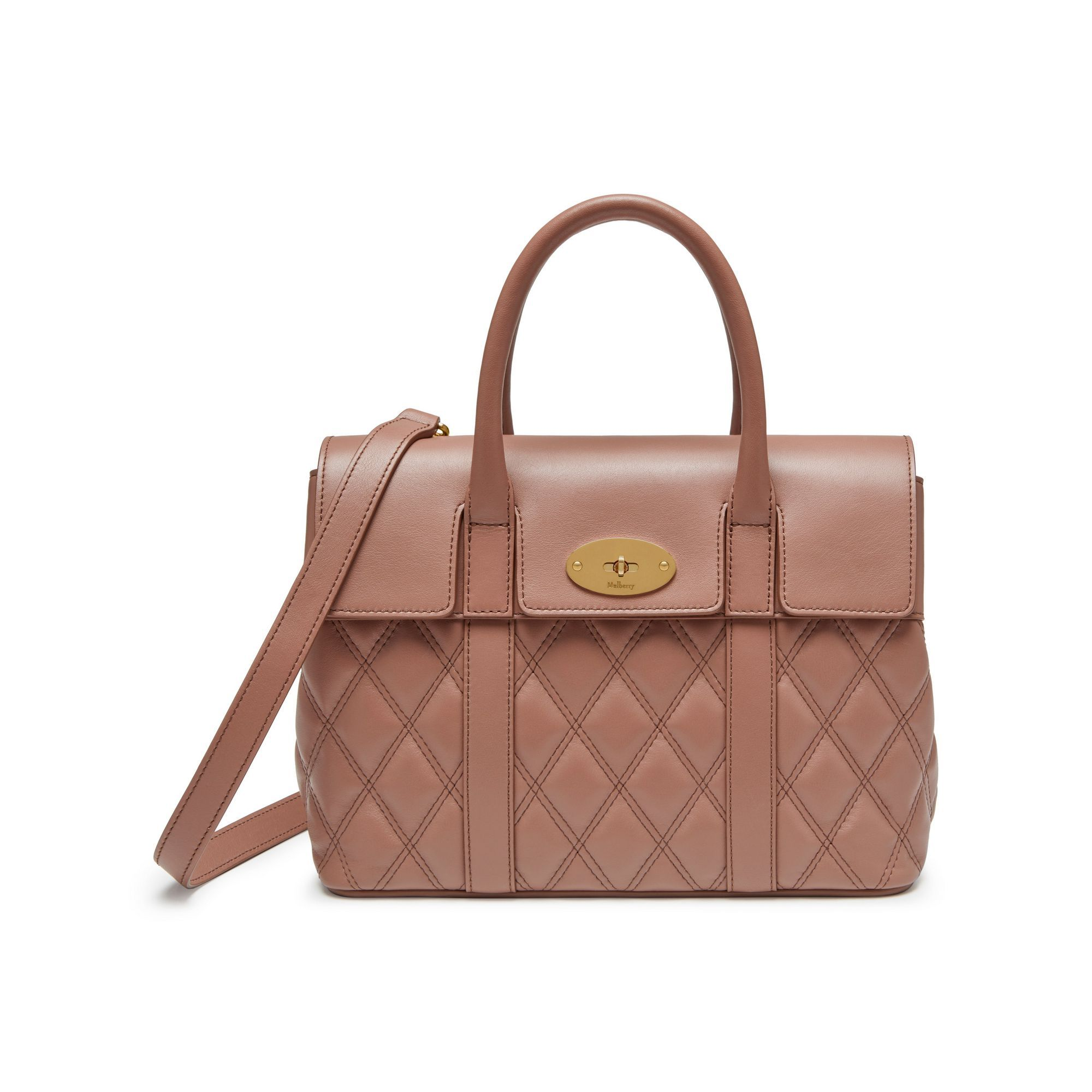19249f5ef7f Shop the Small Bayswater in Quilted Dark Blush Leather at Mulberry.com. The  Bayswater