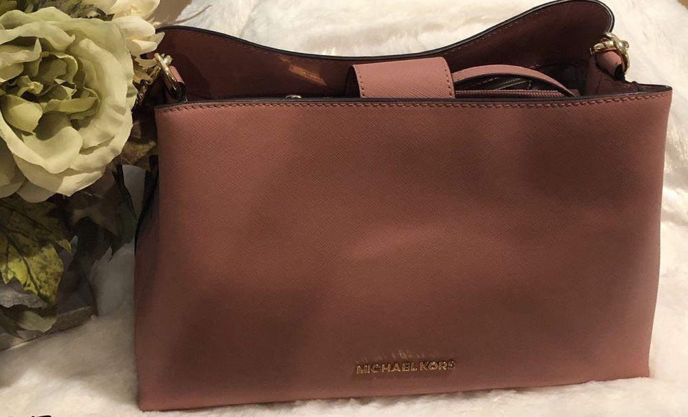 2f9b15b09076 NWT MICHAEL KORS SAFFIANO LEATHER SOFIA LARGE EW SATCHEL BAG IN ROSE  #fashion #clothing #shoes #accessories #womensbagshandbags (ebay link)