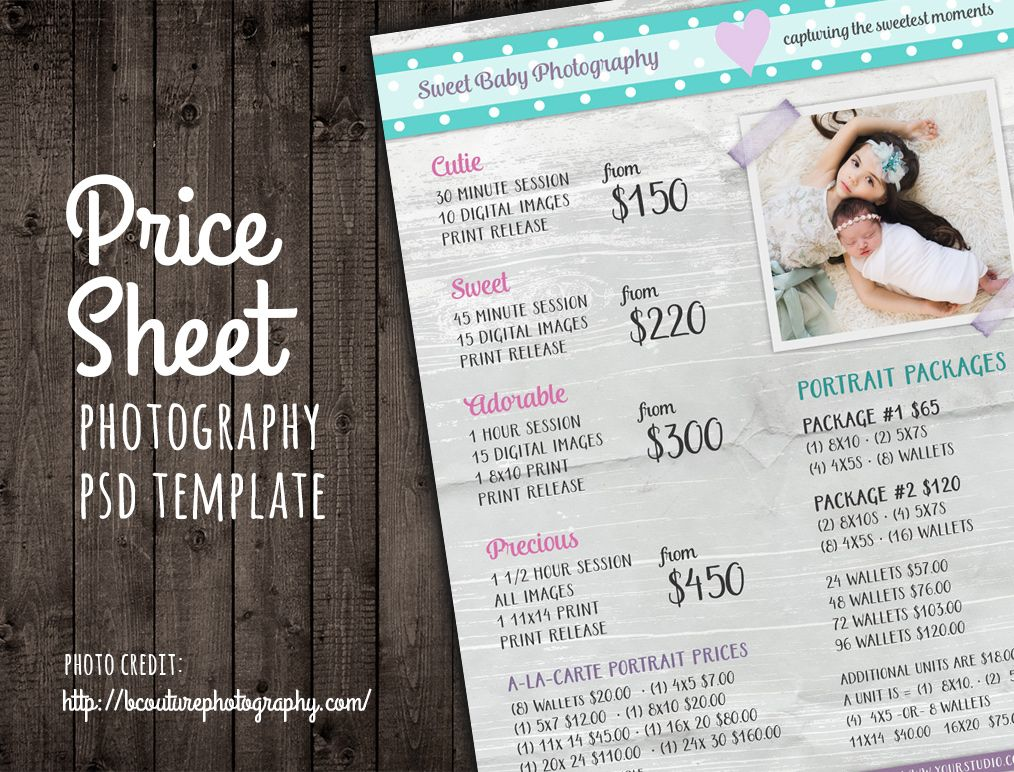 Price Sheet List Psd Template By Studio On Creativemarket
