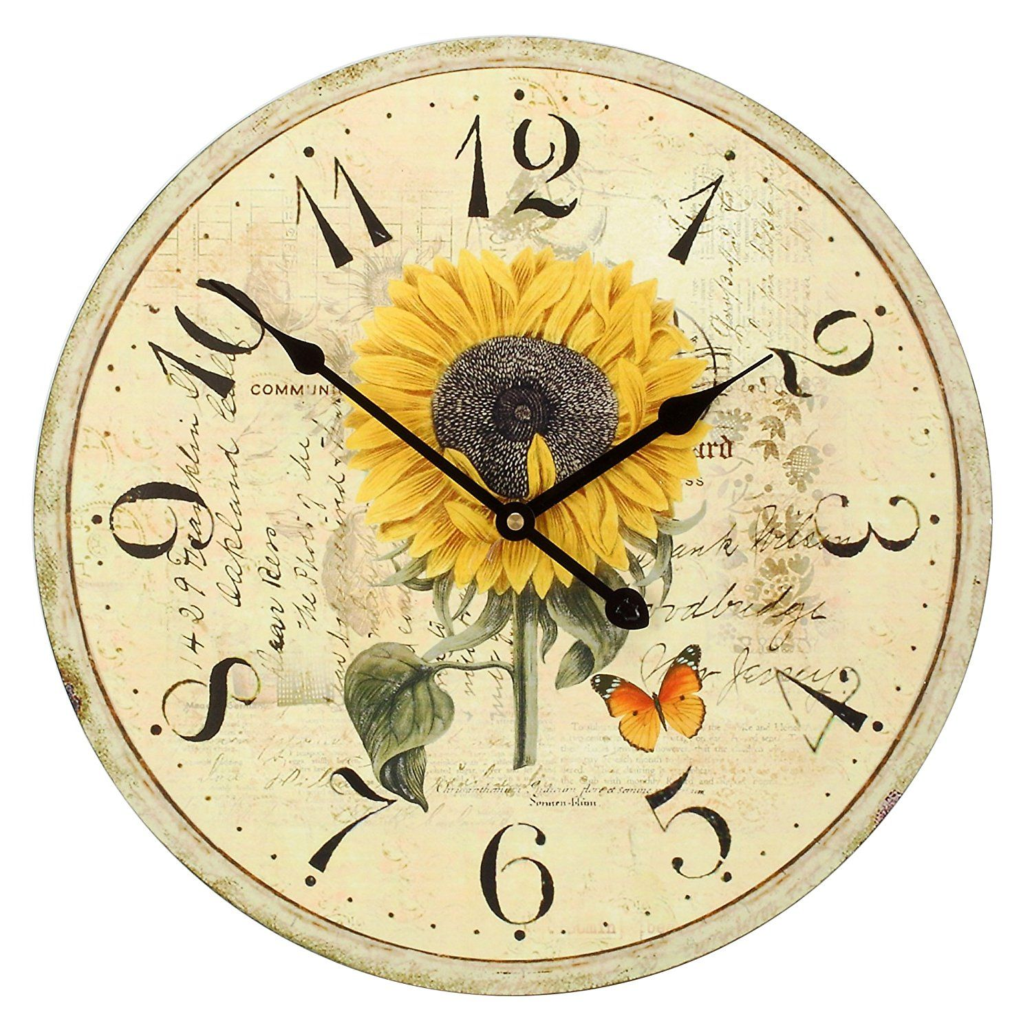 Large Decorative Wall Clock ,RELIAN 16 Inch Silent Non ... on Decorative Wall Sconces Non Lighting id=69449