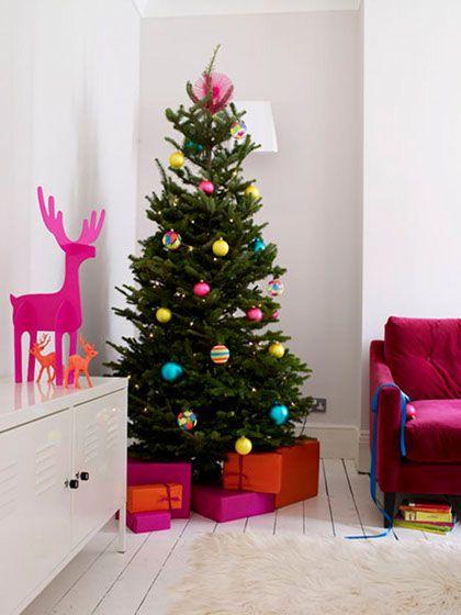 Decora o de natal colorida e brilhante christmas - Decoracion navidad moderna ...