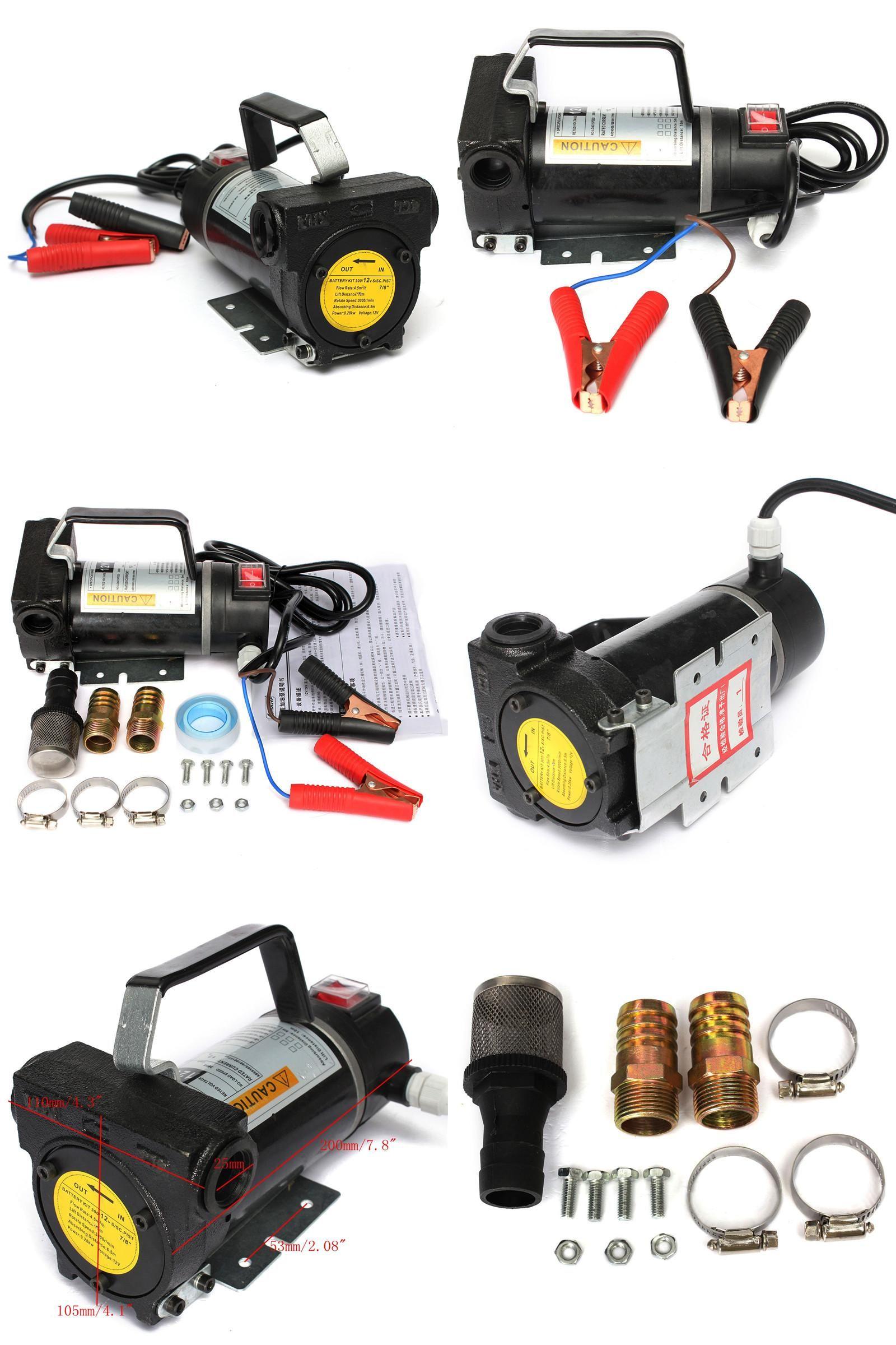 [Visit to Buy] Newest 12V Portable Fuel For Diesel Pump