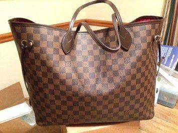 Louis Vuitton Neverfull Gm Damier/Ebene Tote Bag $875